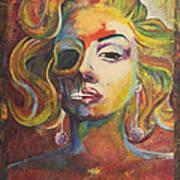 Marilyn Monroe Art Print by Mike Caron