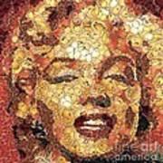 Marilyn Monroe On The Way Of Arcimboldo Art Print