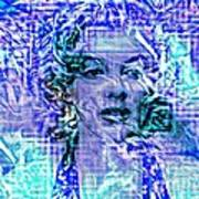 Marilyn Monroe Out Of The Blue Art Print