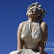 Marilyn Monroe Statue 2 Art Print