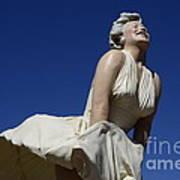 Marilyn Monroe Statue 3 Art Print