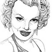 Marilyn Monroe -stipple Art Print