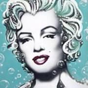 Marilyn Monroe Turquoise Art Print
