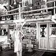 Marilyn On Route 66 Art Print