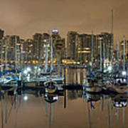 Marina Along Stanley Park In Vancouver Bc Art Print