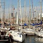 Marina At Port Vell Barcelona Art Print