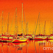 Marina Reflections Art Print