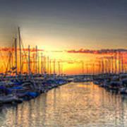 Marina Summer Sunset Art Print