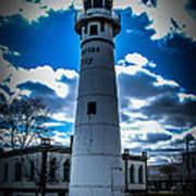 Marine City Michigan Lighthouse Art Print