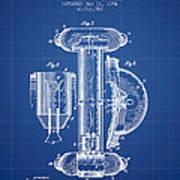 Marine Lifebuoy Patent From 1894 - Blueprint Art Print