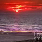 Marine Sunset Art Print