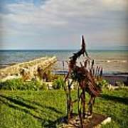 Marineres Trail Between Manitowoc And Two Rivers Wi Art Print