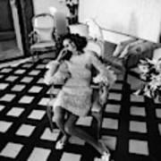 Marisa Berenson Wearing A Forneris Organza Dress Art Print