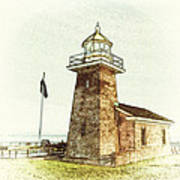 Mark Abbott Lighthouse Santa Cruz California Print by Paul Topp