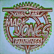 Mark Jones Velo Art Painting Blue Print by Mark Howard Jones