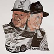 Mark Martin Race Car Driver Art Print
