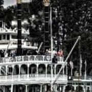 Mark Twain Riverboat Frontierland Disneyland Vertical Sc Art Print