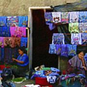 Market At Santiago Atitlan Guatemala Art Print