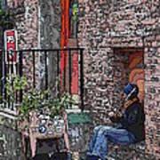 Market Busker 15 Art Print