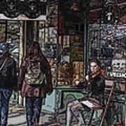 Market Busker 8 Art Print