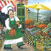 Market Chef Art Print