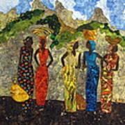 Market Day #2 Art Print by Lynda K Boardman