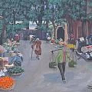 Saigon Market Day Art Print