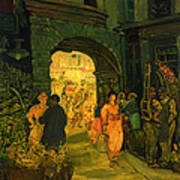 Market In Paris Art Print