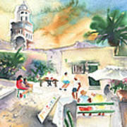 Market In Teguise In Lanzarote 07 Art Print