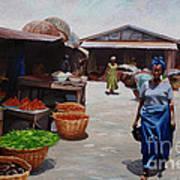 Market Scene Art Print