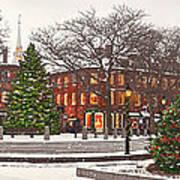 Market Square Christmas - 2013 Art Print