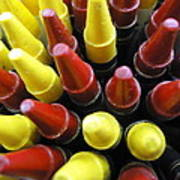 Marking Crayons Art Print