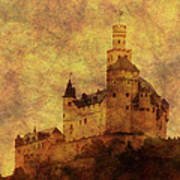 Marksburg Castle In The Rhine River Valley Art Print