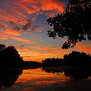 Marlu Lake At Sunset Art Print