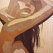 Marquetry Wood Work The Lady Art Print