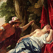 Mars And The Vestal Virgin Art Print