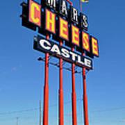 Mars Cheese Castle Art Print