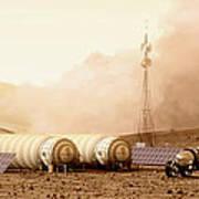 Mars Dust Storm Art Print