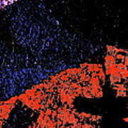 Mars Red Mountain Art Print