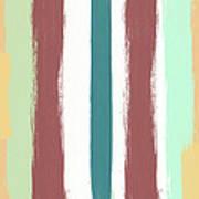 Marsala Stripe- Abstract Pattern Painting Art Print