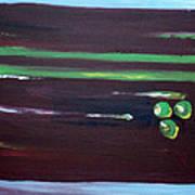 Marsala Triad 3 Art Print
