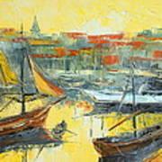 Marseille Harbour Art Print