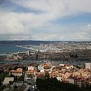 Marseille View From Cathedral Notre Dame De La Garde Art Print