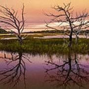Marsh Oil Painting Art Print