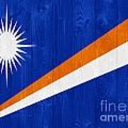 Marshall Islands Flag Art Print