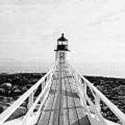 Marshall Point Approach - Black And White Art Print