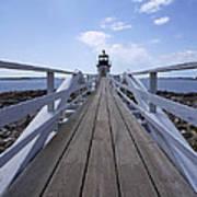 Marshall Point Lighthouse And Walkway Art Print