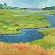 Marshes At High Tide Art Print
