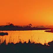 Marshland At Dusk, Bayou Country, Route Art Print