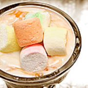 Marshmallow Peach Yogurt Parfait Art Print